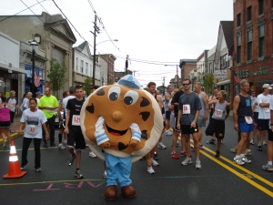 Charlie Chip at the Keyport 5K Race